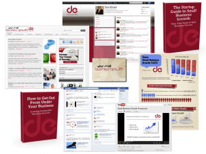 Small Growth Content Marketing Collage