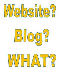 Website or Blog?  That is the Questions…