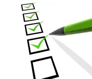 Use Checklist when building systems
